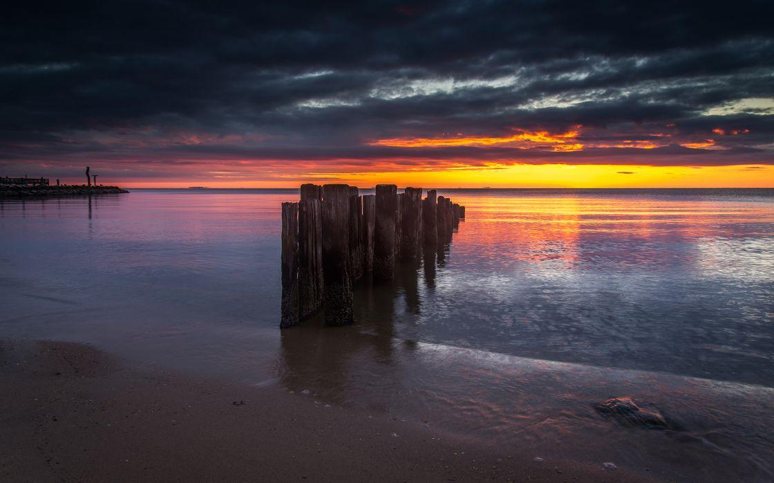 Posts Beach Ocean Sunset wallpaper