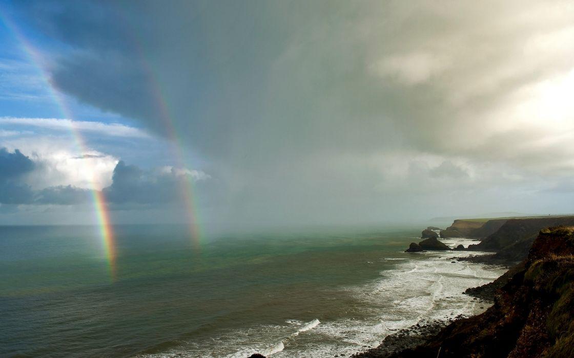 Rainbow Coast Ocean wallpaper