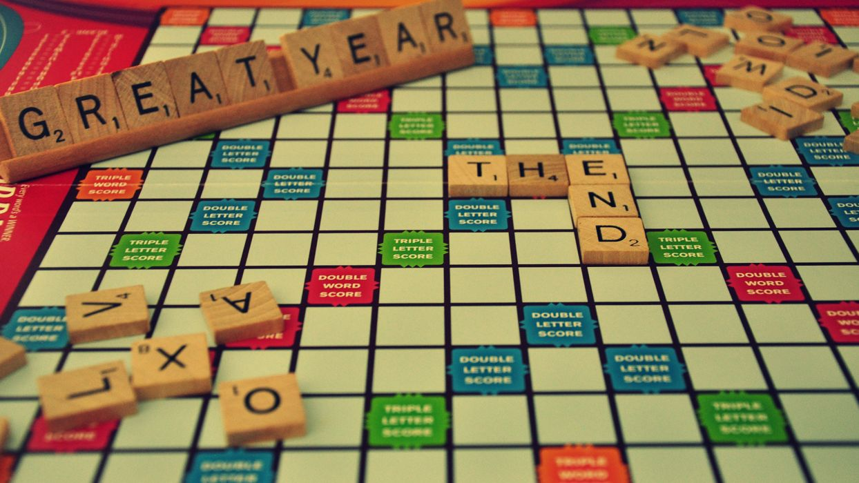 Scrabble New Year wallpaper