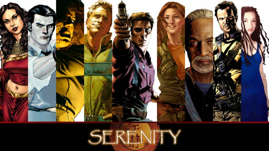 Serenity Firefly sci-fi poster wallpaper