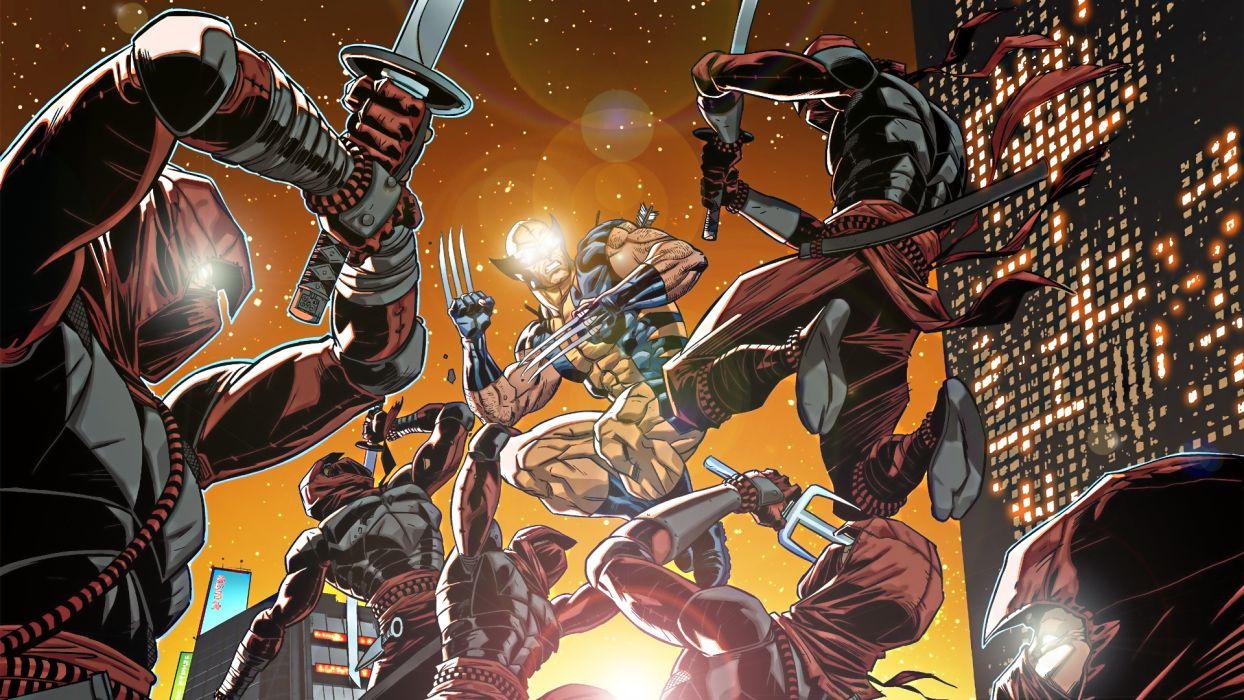 Wolverine Marvel Light Ninja wallpaper