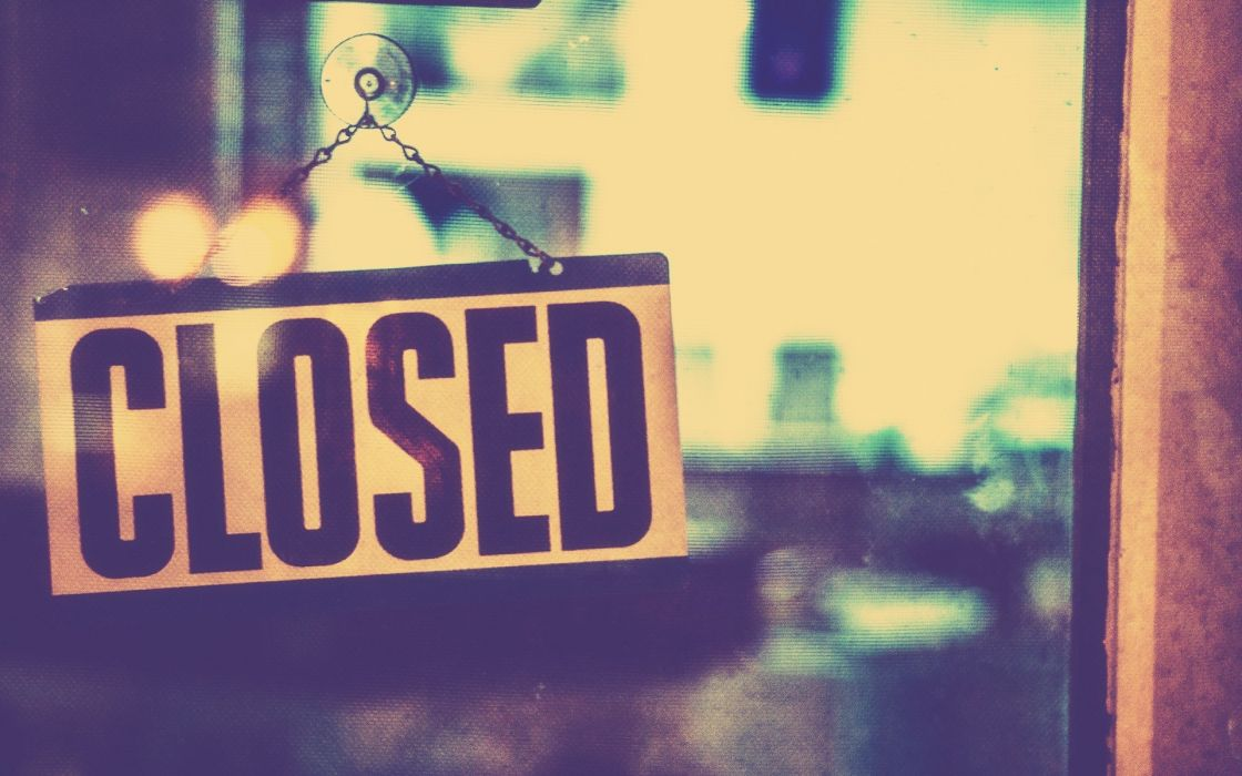 CLOSED sign text word (3) wallpaper