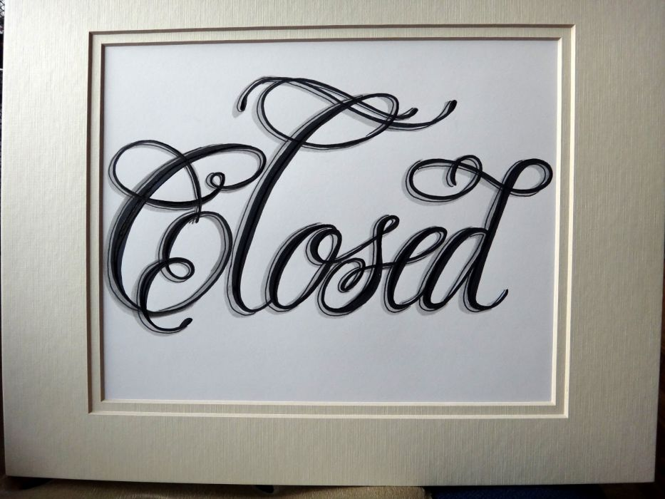 CLOSED sign text word (12) wallpaper