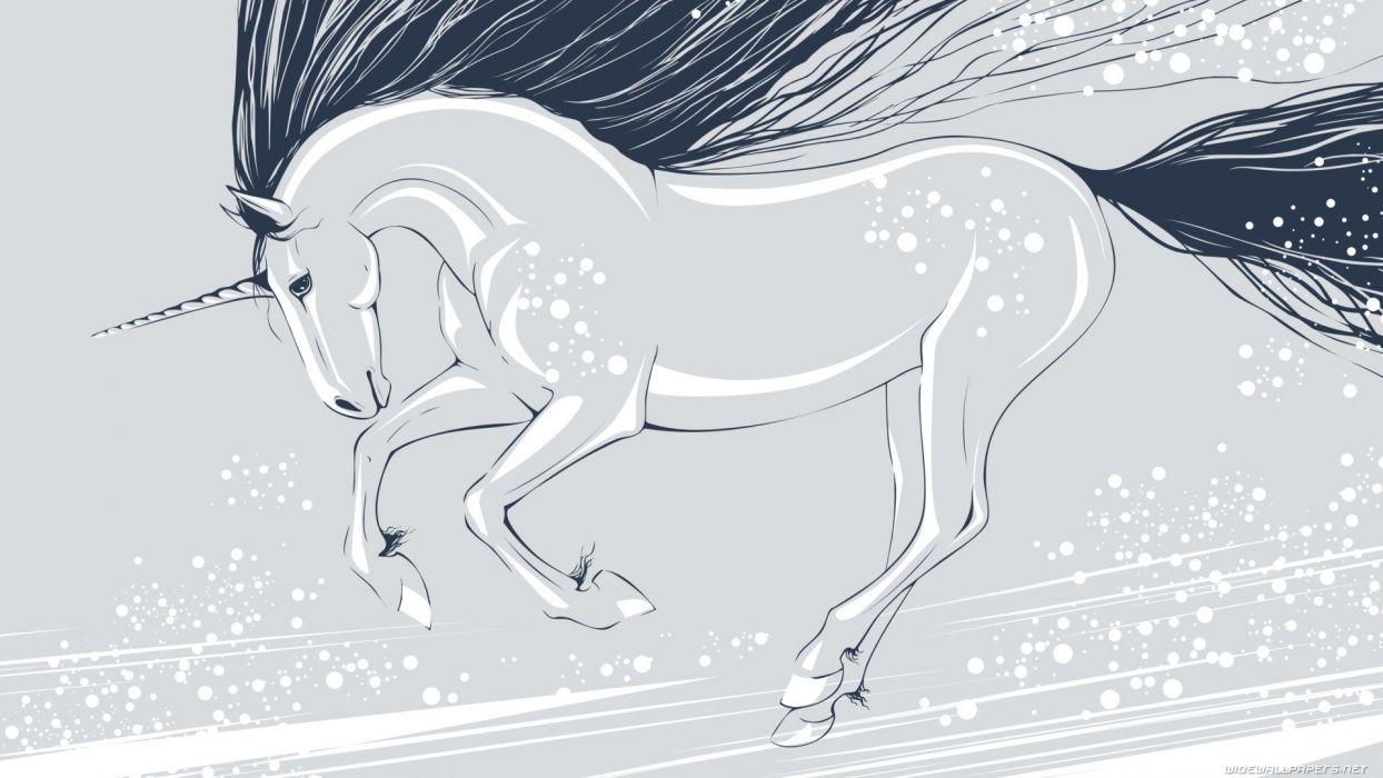 horses artwork wallpaper