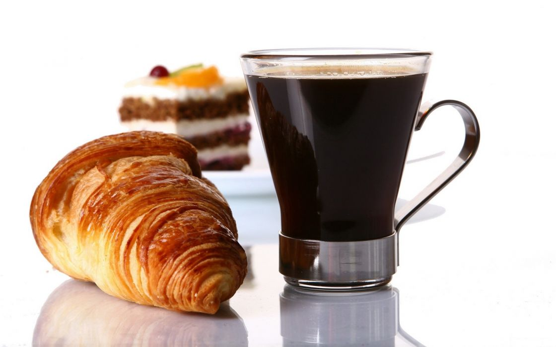 coffee food croissants biscuits cakes wallpaper