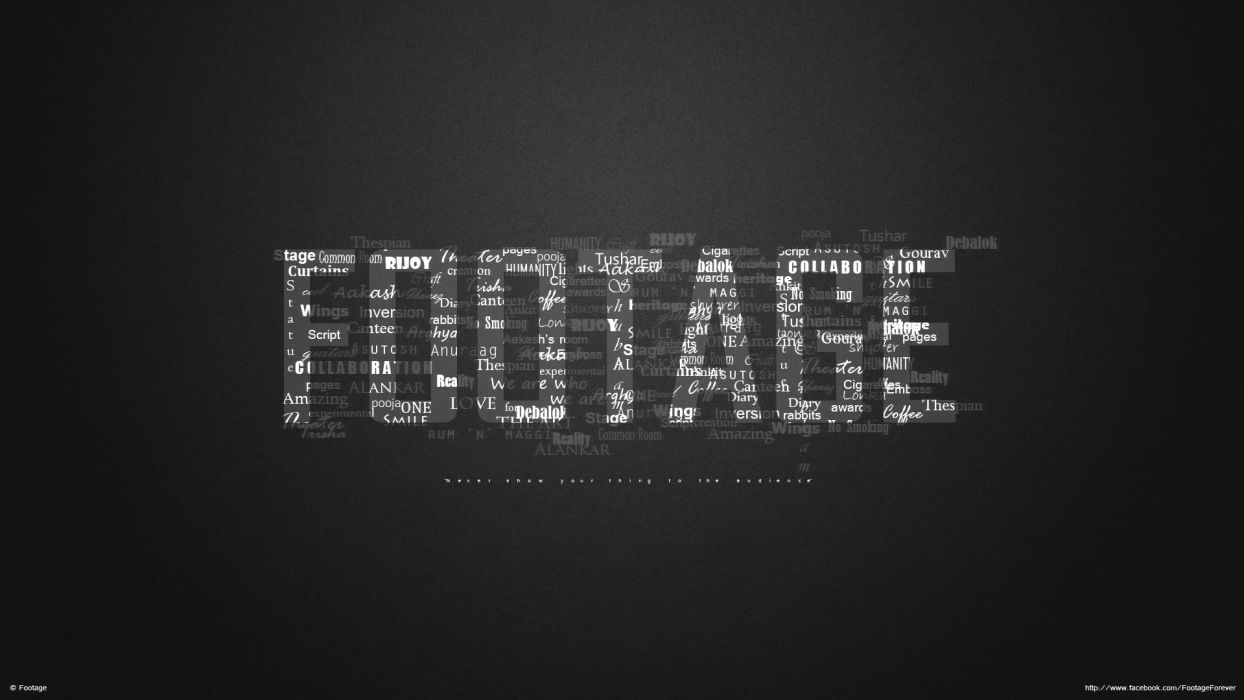 typography Footage wallpaper