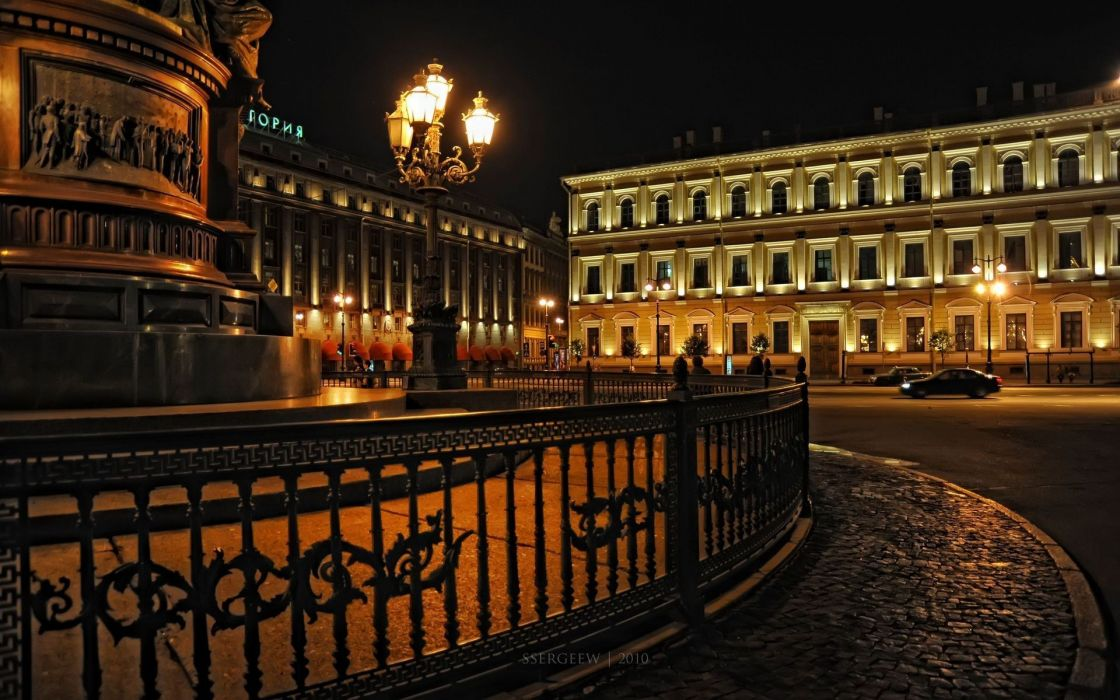 cityscapes Russia buildings lanterns Saint Petersburg wallpaper