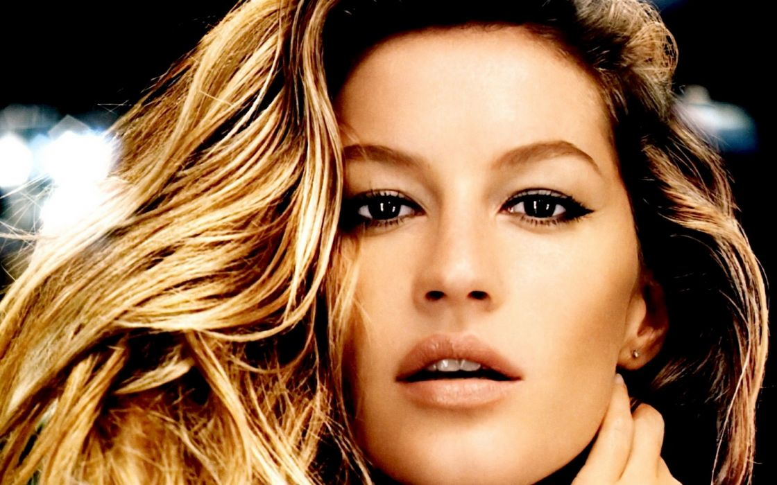 brunettes women models Gisele Bundchen faces wallpaper