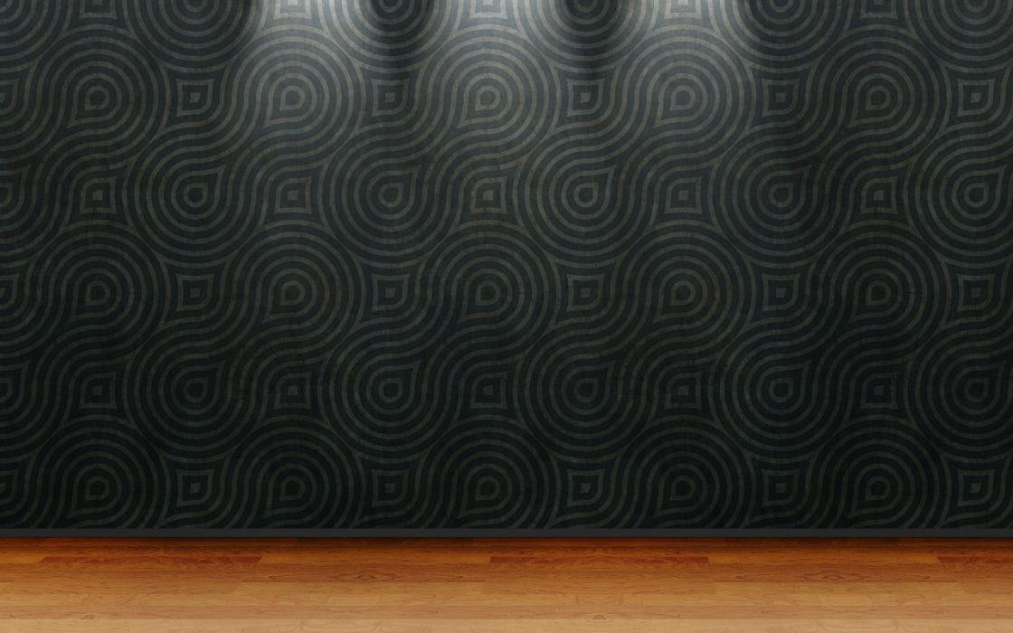 floor 3D view room wood floor wallpaper