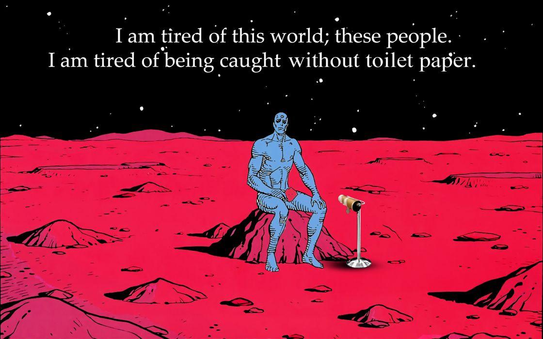 Watchmen Mars parody toilet paper Dr_ Manhattan wallpaper