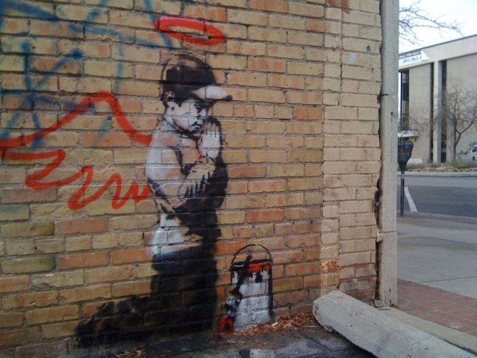 graffiti Banksy street art wallpaper