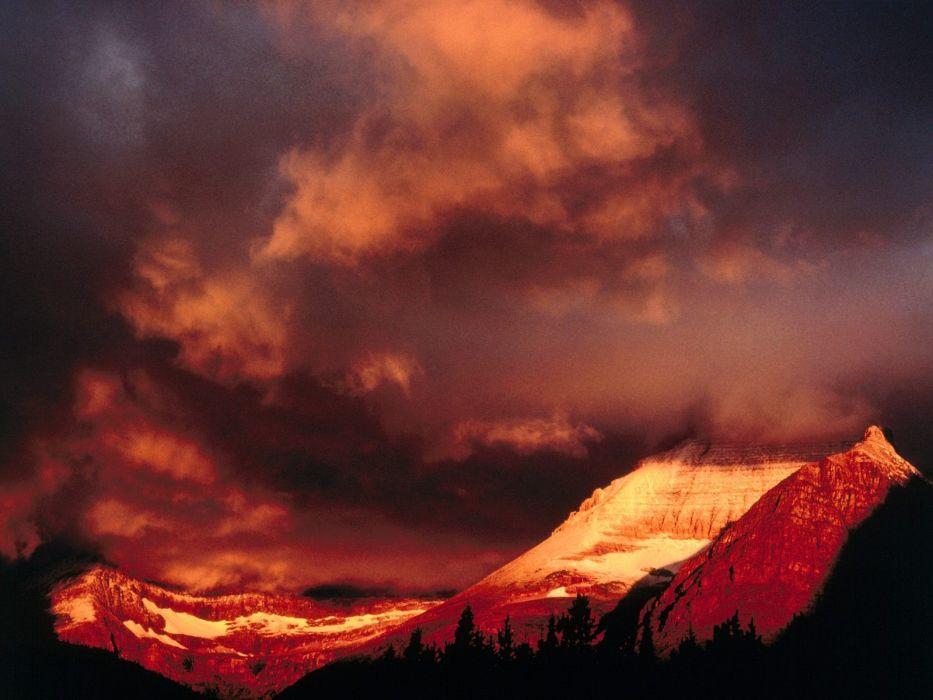 mountains landscapes nature glacier National Park Mount wallpaper