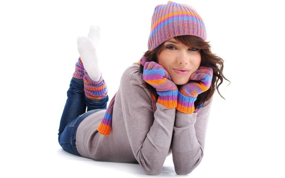women gloves hats white background wallpaper