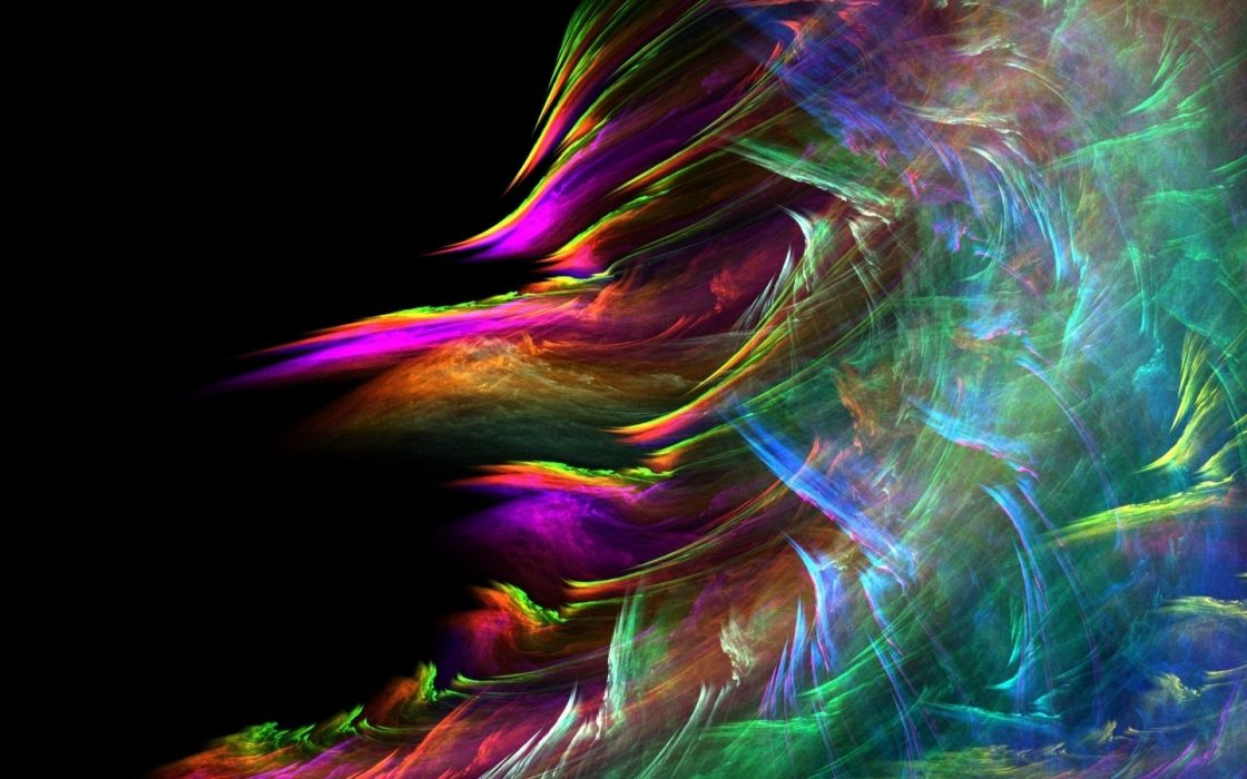 abstract paintings multicolor rainbows wallpaper