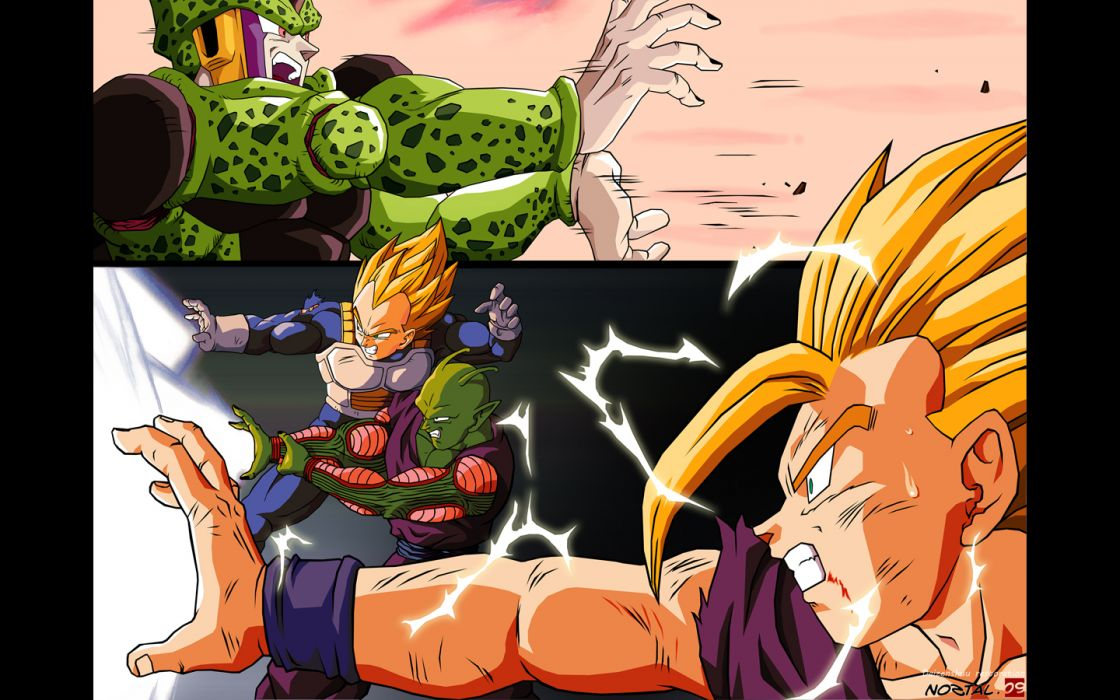 Vegeta Cell Gohan Son Gohan Piccolo Dragon Ball Z wallpaper