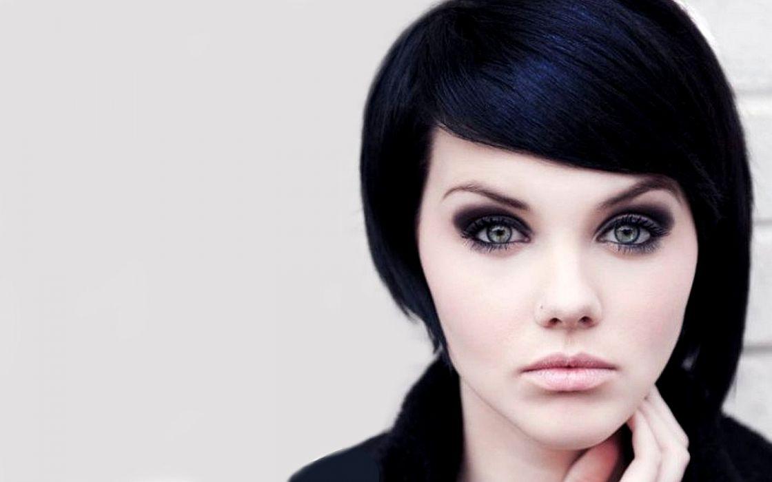 women close-up Mellisa Clarke black hair wallpaper