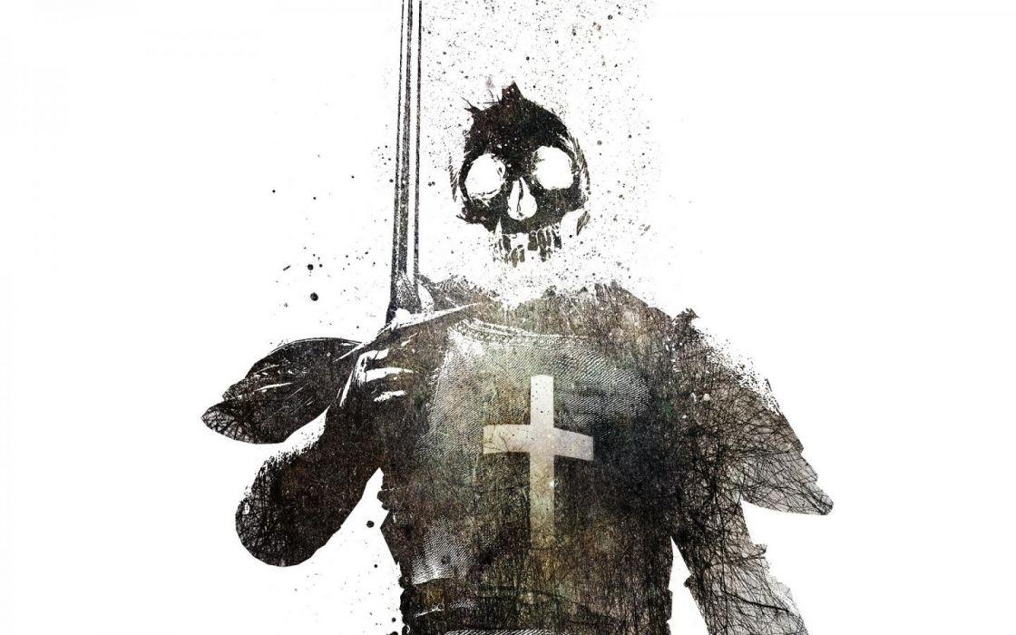 knights simple background swords templar wallpaper