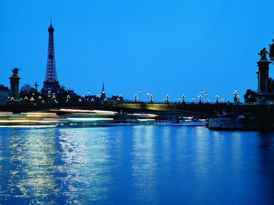 Paris night cities wallpaper