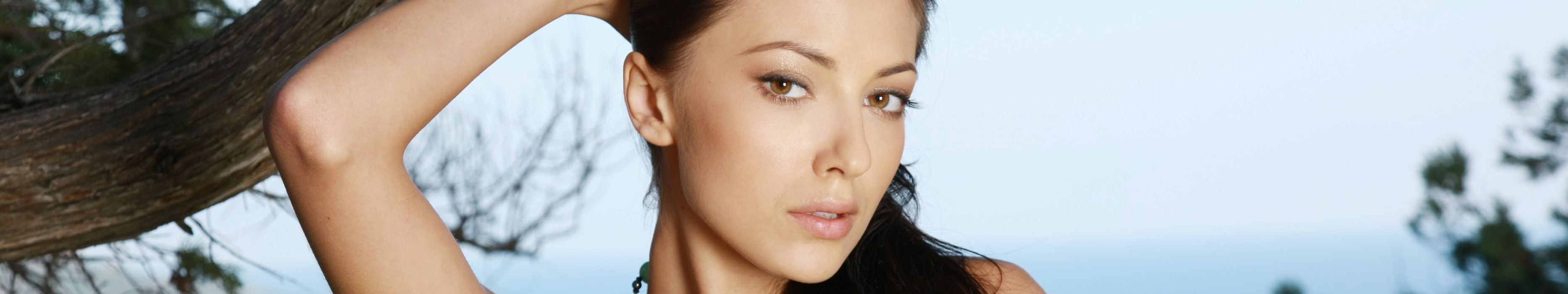 women Anna Sbitnaya nude Eyefinity wallpaper