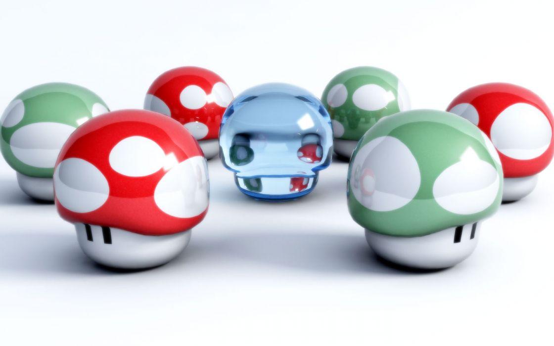 Mario mushrooms wallpaper