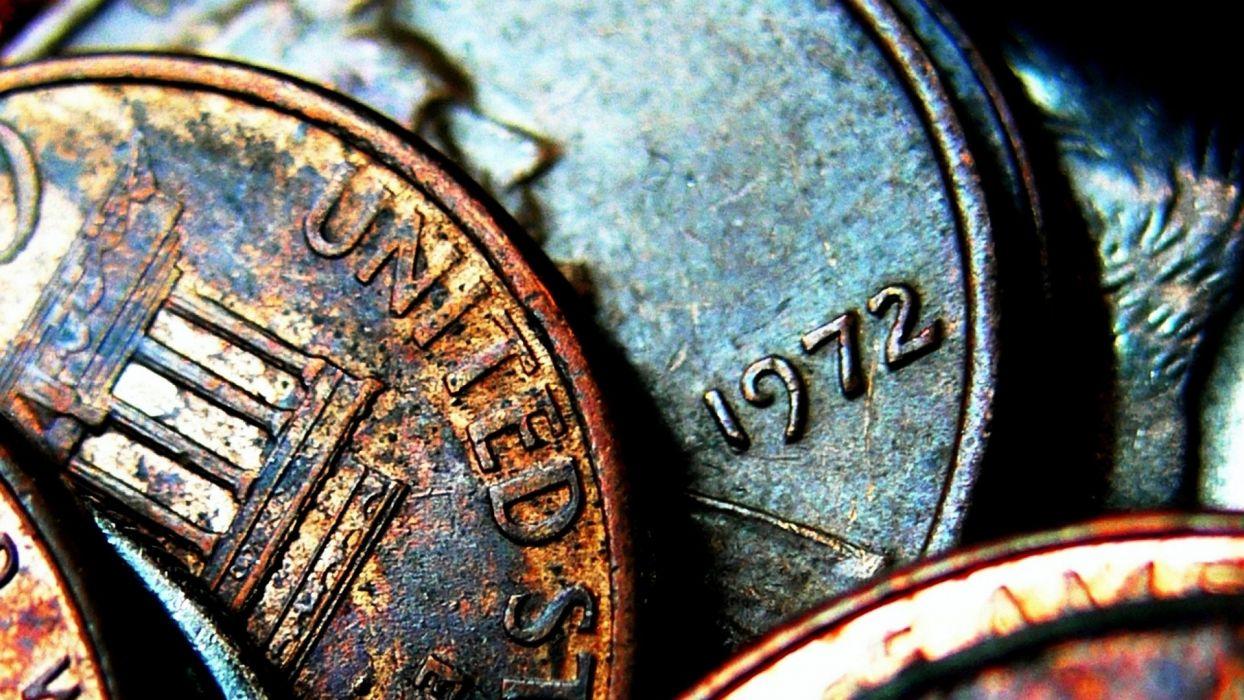 coins money macro wallpaper