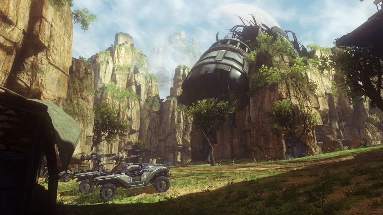 video games Halo Warthog exile Halo 4 multiplayer wallpaper