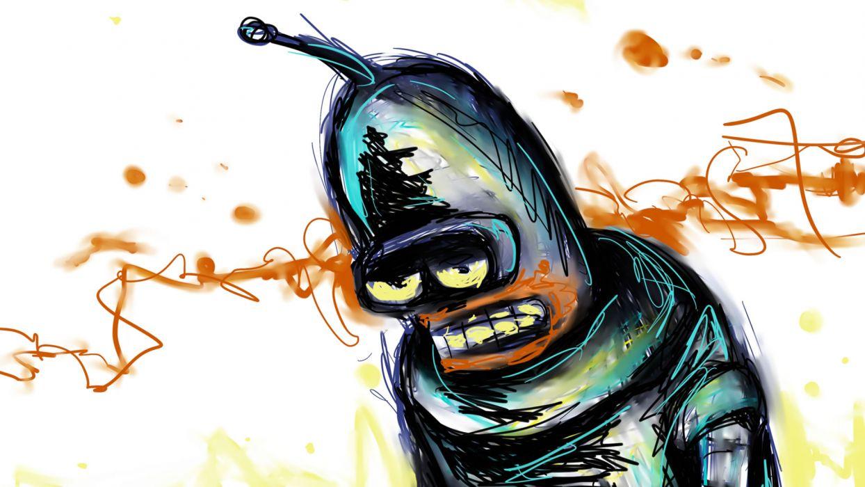 Futurama Bender fan art wallpaper