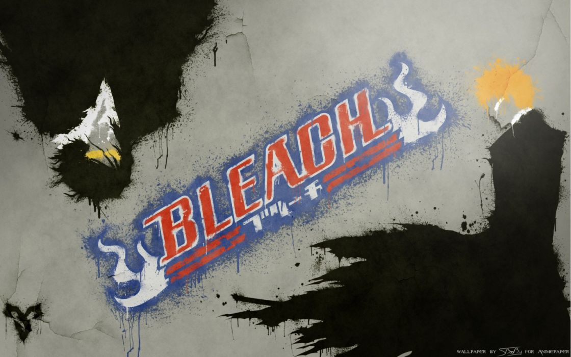 Bleach Kurosaki Ichigo Zangetsu spray paint wallpaper