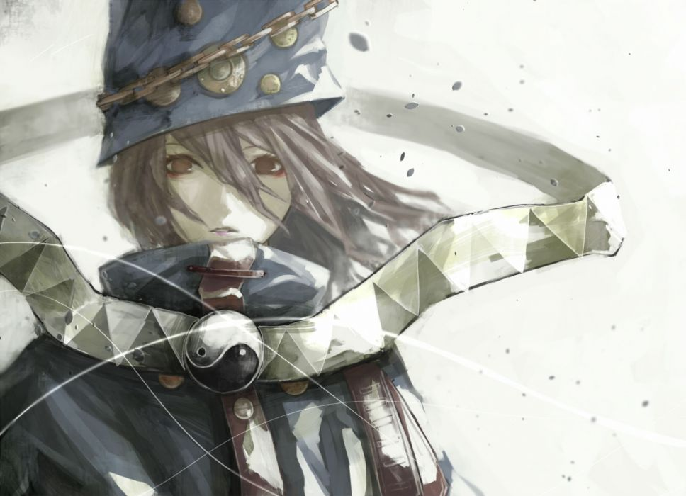 boogiepop phantom akihira fujinohara boogiepop boogiepop phantom brown eyes brown hair chain hat long hair wallpaper