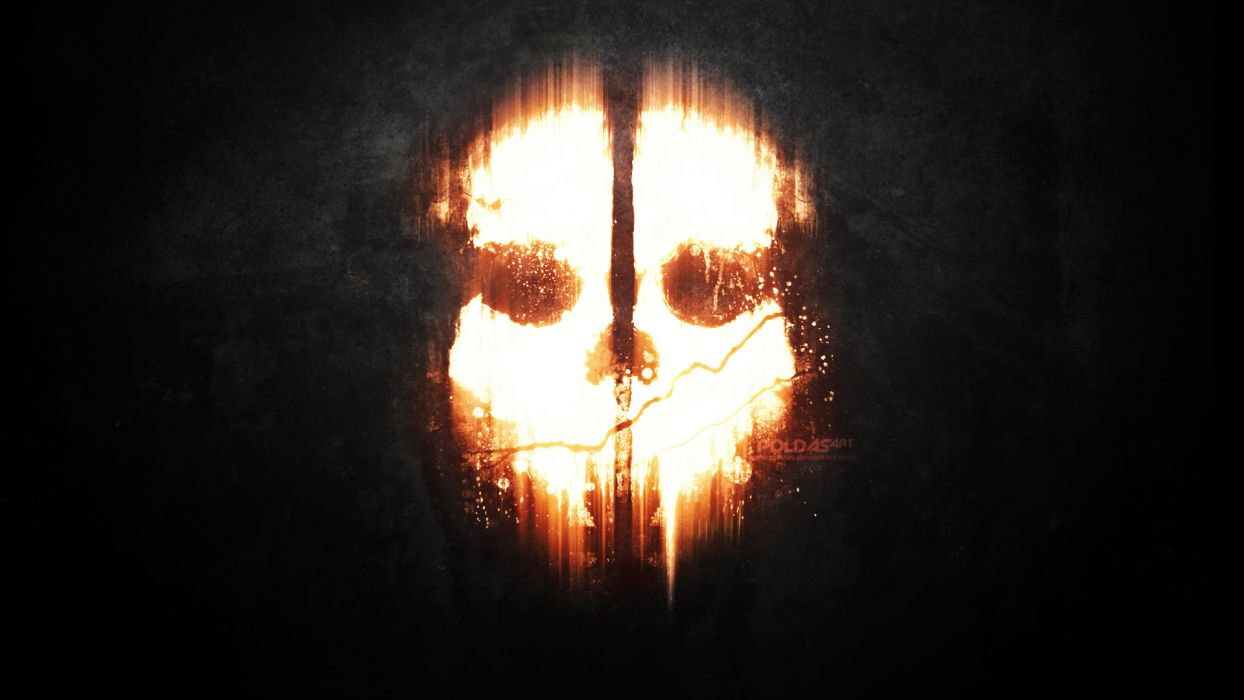 Call of Duty Ghosts dark mask skull wallpaper