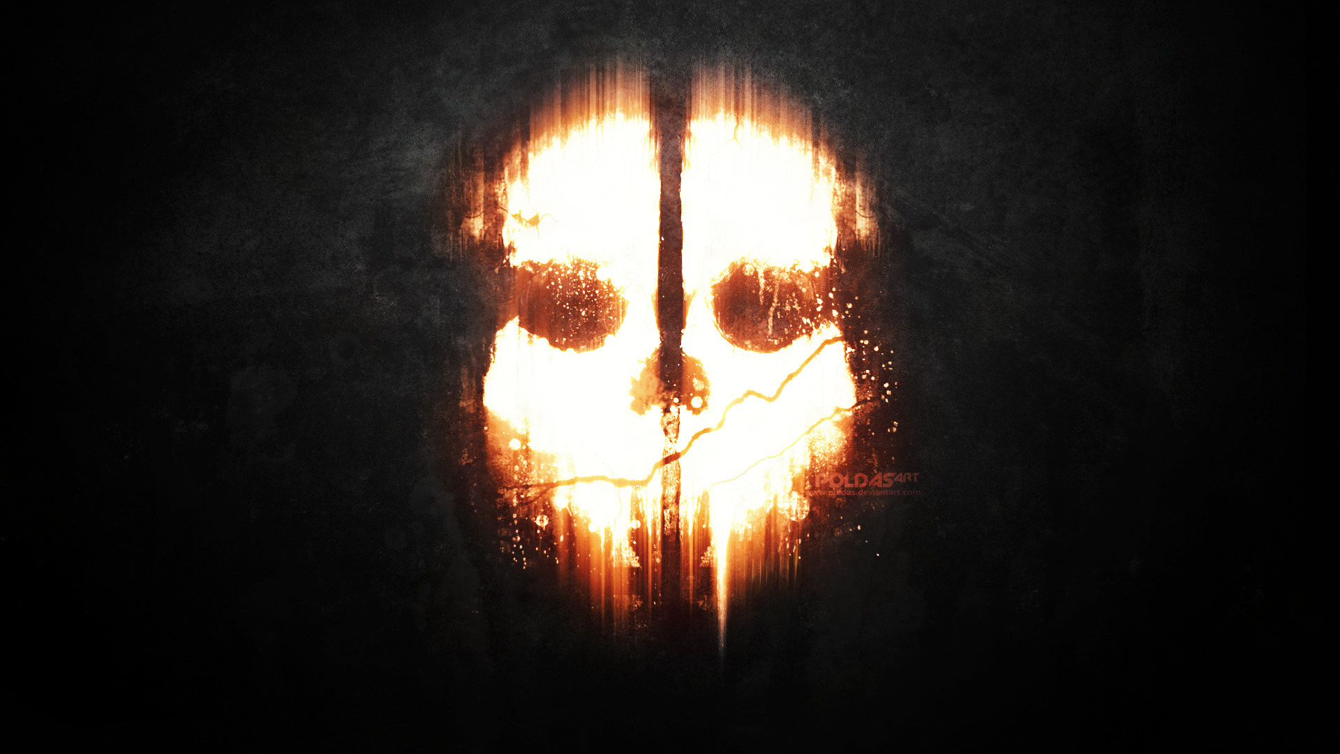 call of duty ghosts dark mask skull wallpaper 1920x1080