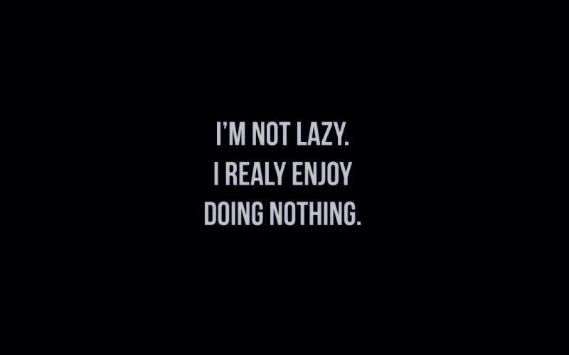 Lazy BW wallpaper