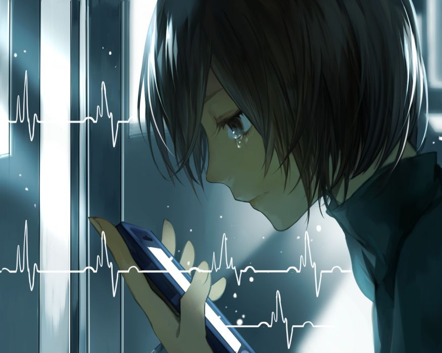 original brown eyes brown hair original phone short hair tcb tears wallpaper
