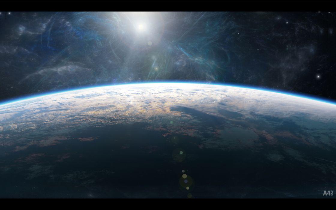 original nobody original planet scenic space stars watermark wallpaper