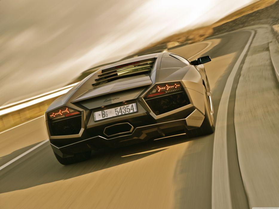 Lamborghini Reventon On Road wallpaper