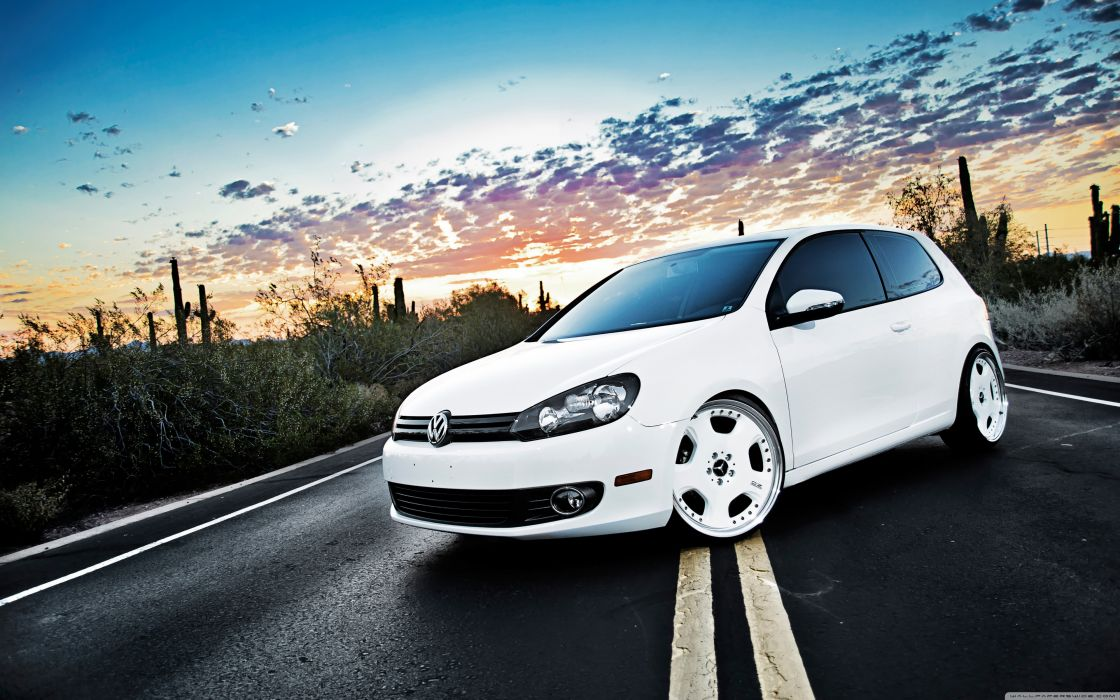 Volkswagen Golf 6 White wallpaper