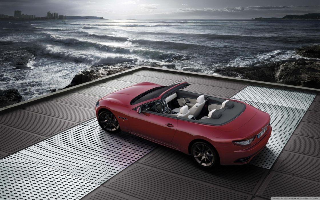 Maserati Grancabrio Red wallpaper