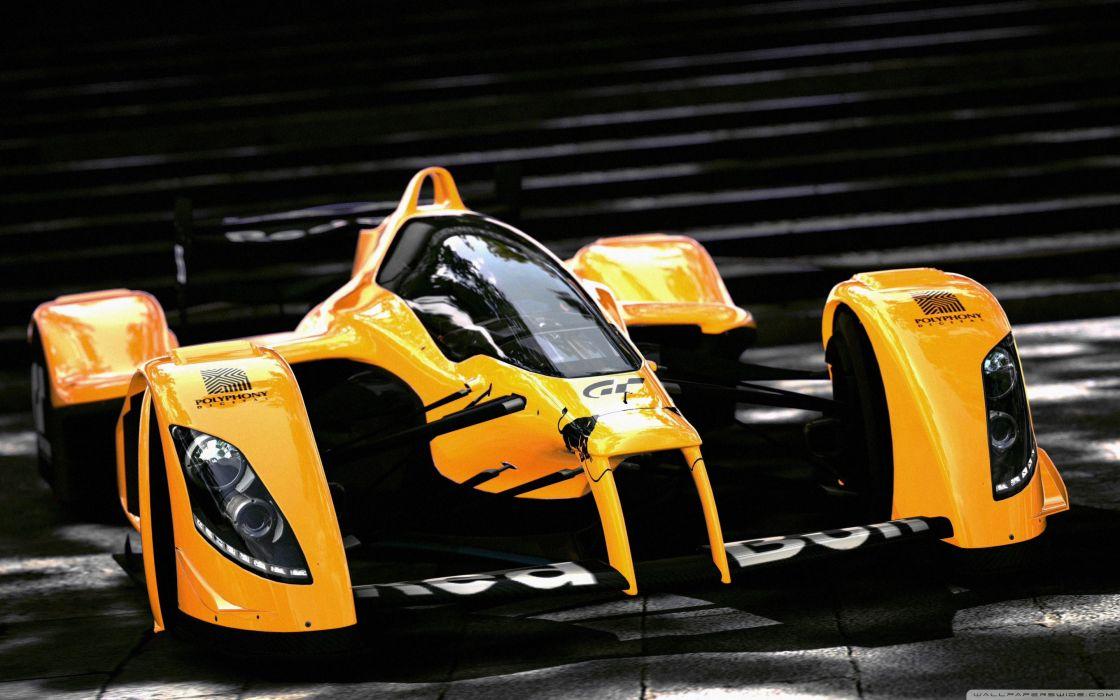 Racing Orange Car wallpaper