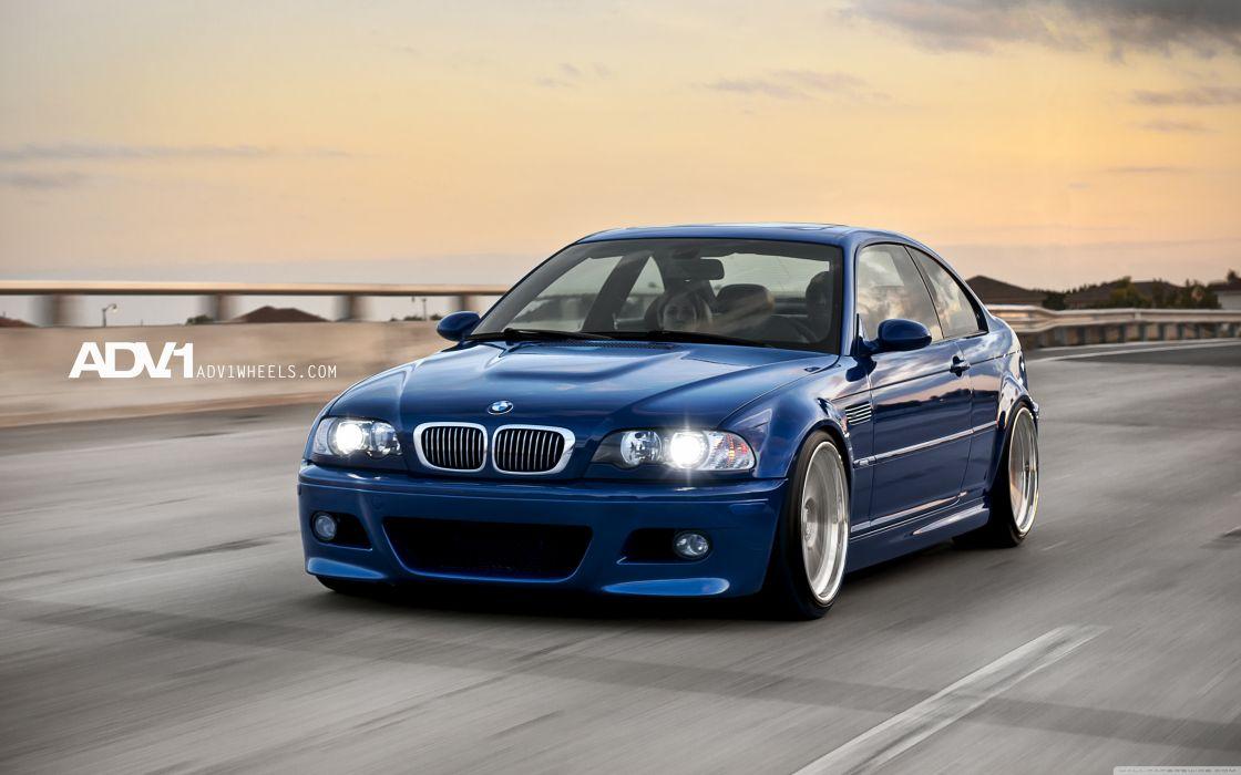 Blue BMW M3 e46 wallpaper