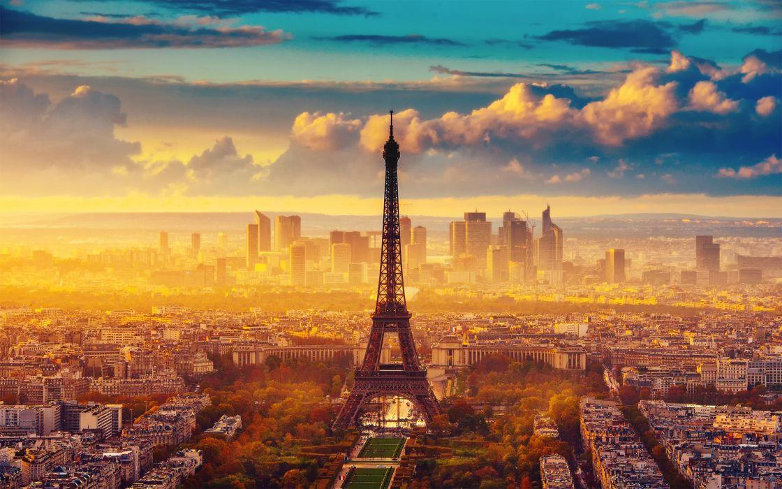city Paris Eiffel Tower France autumn wallpaper