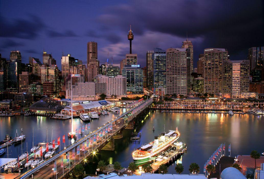 Darling Harbour Sydney NSW Australia wallpaper