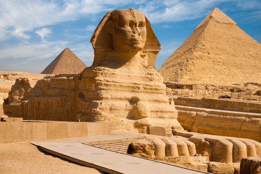 Egypt Sphinx Pyramid wallpaper