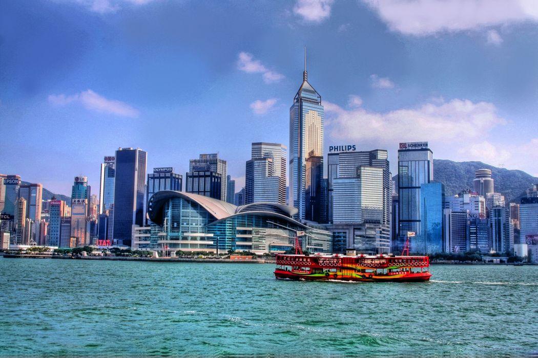 Hong Kong Harbour city wallpaper