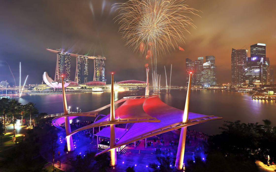 National Day Parade Singapore fireworks   g wallpaper
