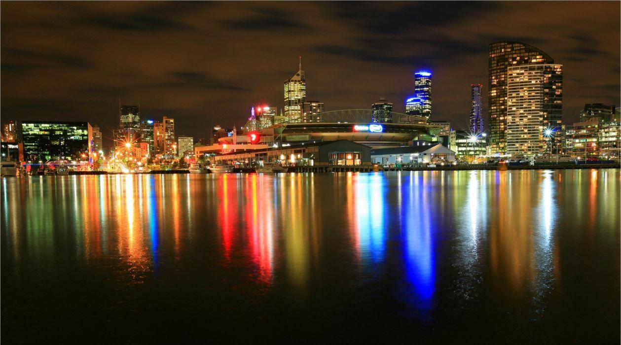 Newquay Docklands Melbourne reflection     g wallpaper
