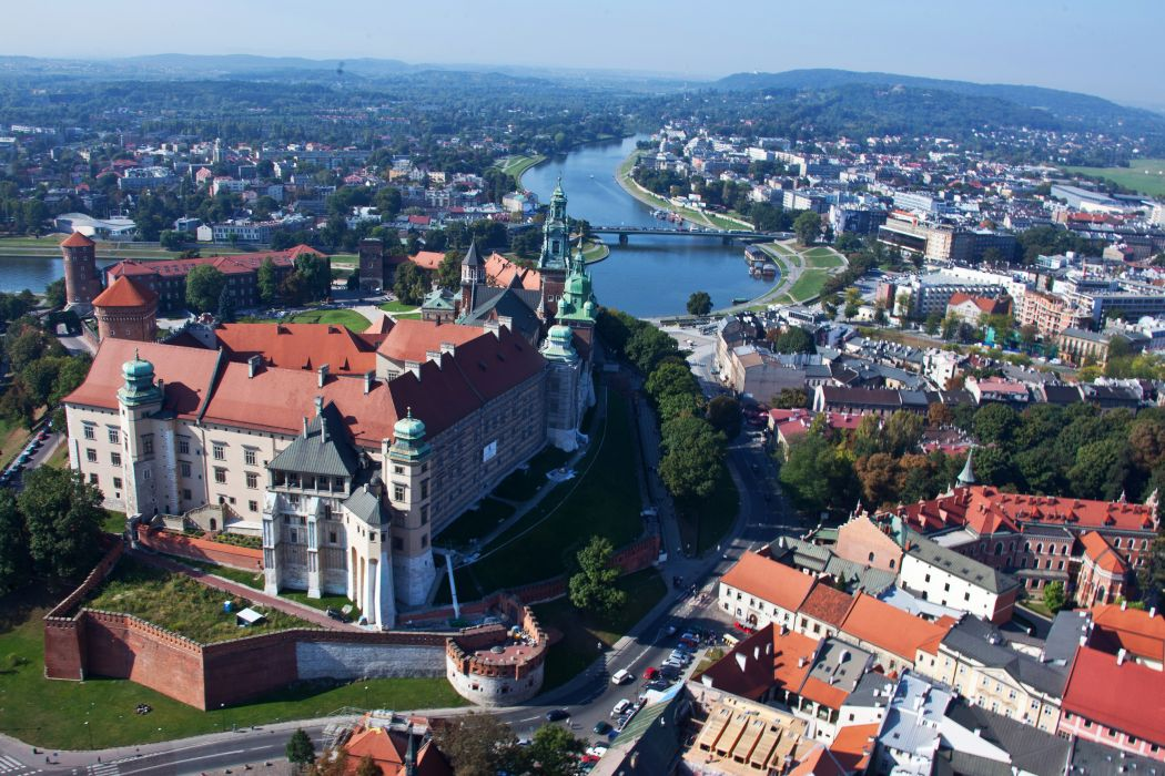 Poland Houses From above Cities wallpaper