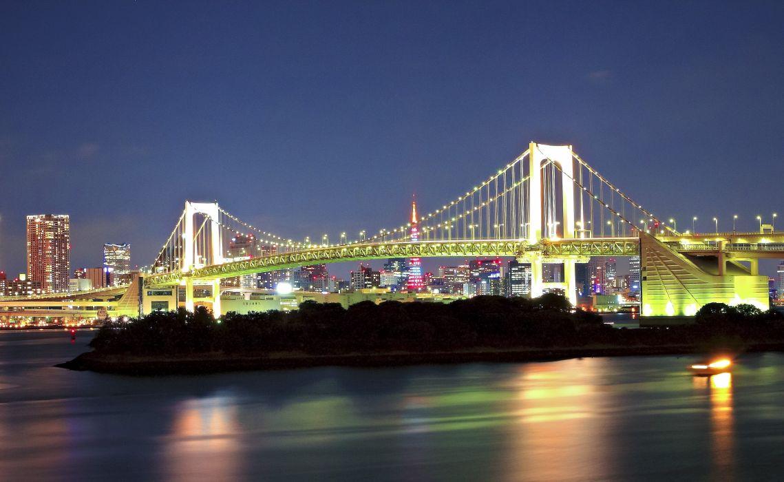Rainbow Bridge Minato Tokyo Japan wallpaper