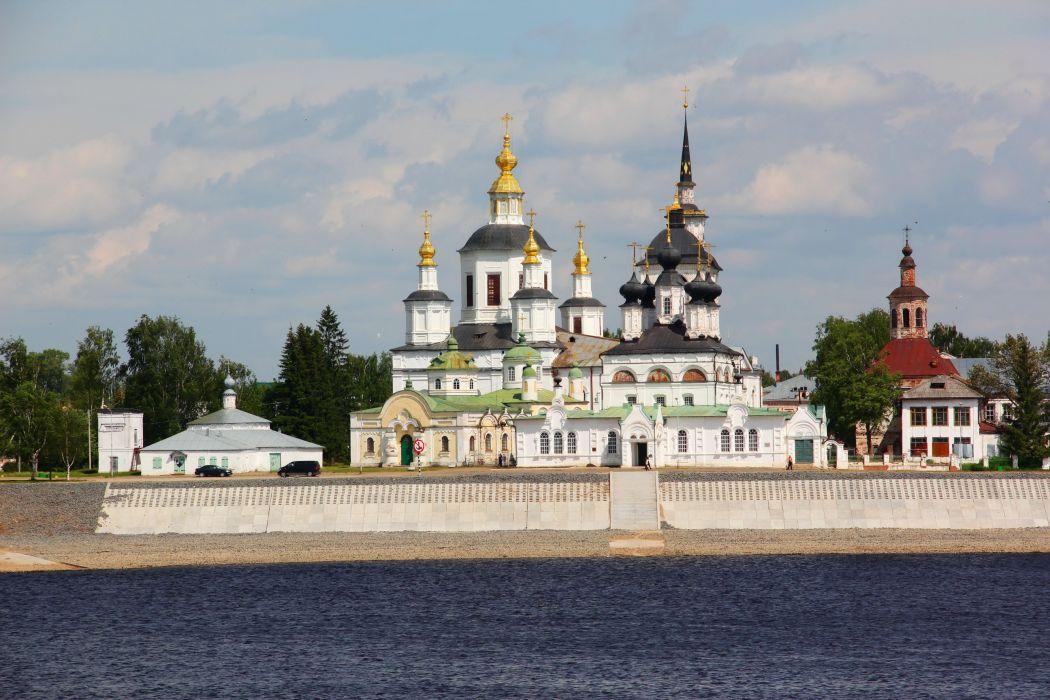 Temple Rivers Russia religion church wallpaper