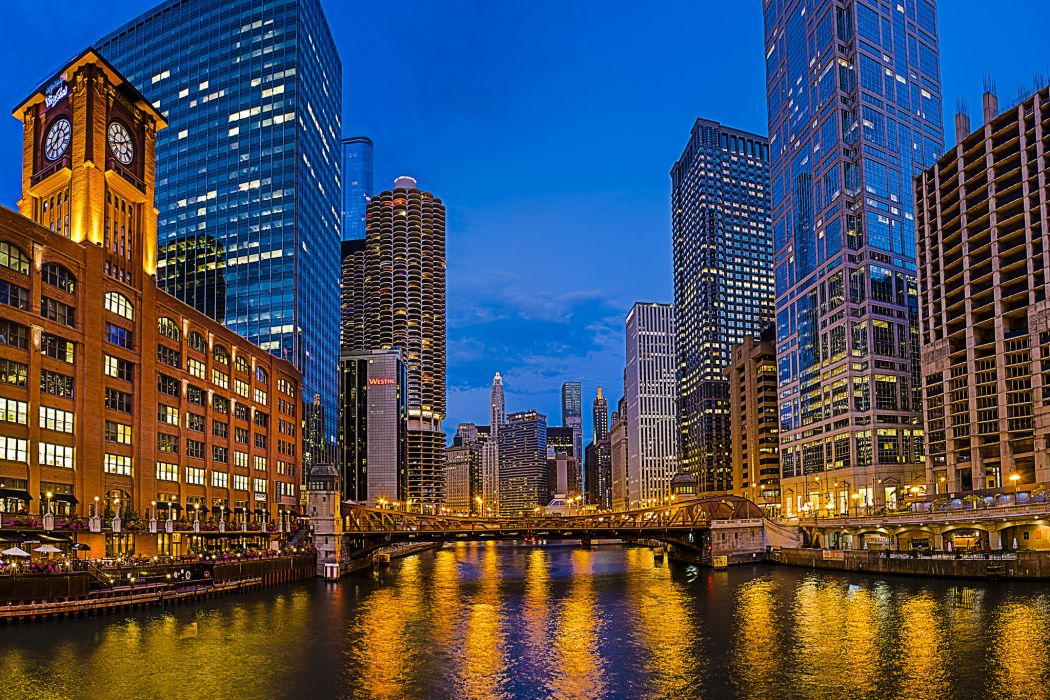 usa chicago la salle street bridge new eastside illinois wallpaper