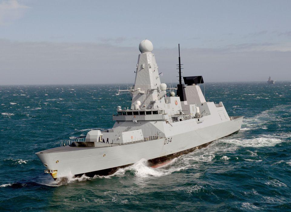 (d34) royal hms diamond destroyer navy military ocean wallpaper